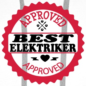 Approved best elektriker T-skjorter - Premium hettegenser for menn