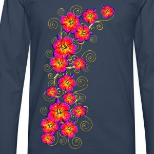 Hibiscus, summer, surf beach, Hawaii, water sports T-Shirts - Men's Premium Longsleeve Shirt