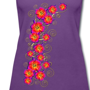 Hibiscus, summer, surf beach, Hawaii, water sports T-Shirts - Women's Premium Tank Top