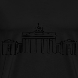 Brandenburg Gate in Berlin (reflect) - Men's Premium T-Shirt