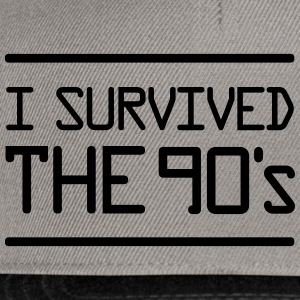 I Survived the 90´s T-skjorter - Snapback-caps