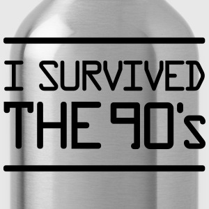 I Survived the 90´s T-Shirts - Water Bottle