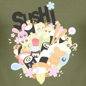 Sushi - Männer Slim Fit T-Shirt
