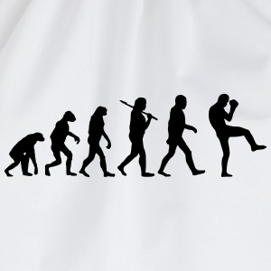 Evolution of Kickboxen T-Shirts - Turnbeutel