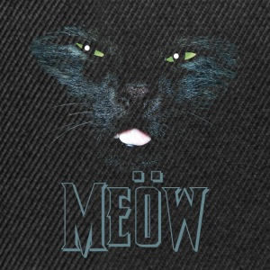 Black Cat shirt meow Heavy Metal black shirt Other - Snapback Cap