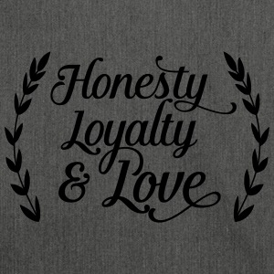 honesty loyalty and love Sweatshirts - Skuldertaske af recycling-material