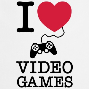 I Love Video Games T-shirts - Keukenschort