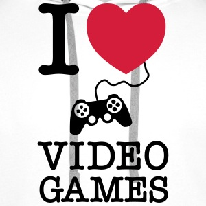 I Love Video Games T-shirts - Mannen Premium hoodie