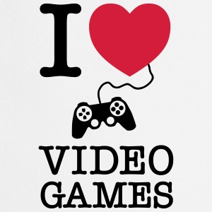 I Love Video Games T-shirts - Forklæde