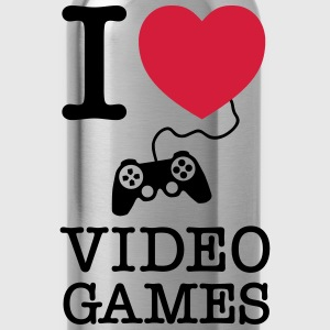 I Love Video Games T-shirts - Drikkeflaske