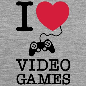 I Love Video Games T-Shirts - Männer Premium Langarmshirt