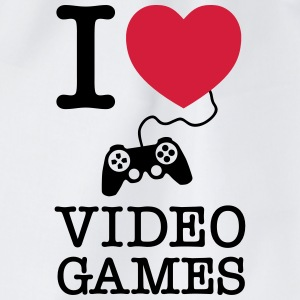 I Love Video Games T-skjorter - Gymbag