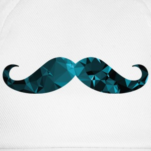 Moustache (Low Poly Style) Baby Bodysuits - Baseball Cap