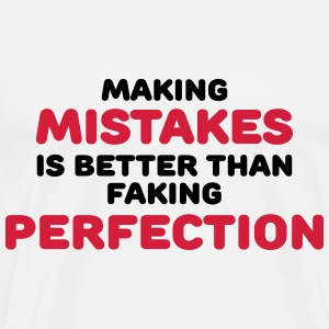 Making mistakes Long Sleeve Shirts - Men's Premium T-Shirt