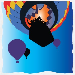 Hot Air Ballooning: Silhouettes & Primary Colours - Men's Premium T-Shirt