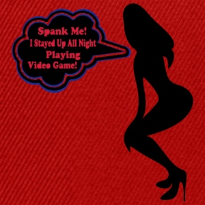 ♥ټSpank me, I Played Video Game All Night Teeټ - Snapback Cap