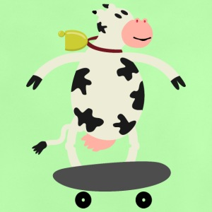 Milch Express / cow on skateboard (ddp) Shirts - Baby T-Shirt