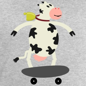 Milch Express / cow on skateboard (ddp) Long sleeve shirts - Men's Sweatshirt by Stanley & Stella