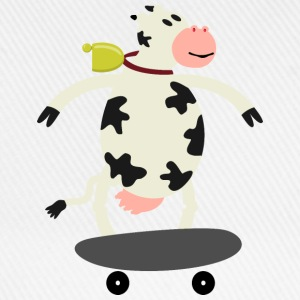 Milch Express / cow on skateboard (ddp) Long sleeve shirts - Baseball Cap