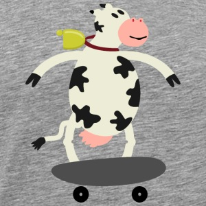 Milch Express / cow on skateboard (ddp) Long sleeve shirts - Men's Premium T-Shirt