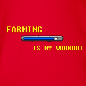 Famring is my work out Shirts - Organic Short-sleeved Baby Bodysuit