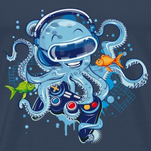 Octopus with gamepad and VR goggles Tops - Men's Premium T-Shirt