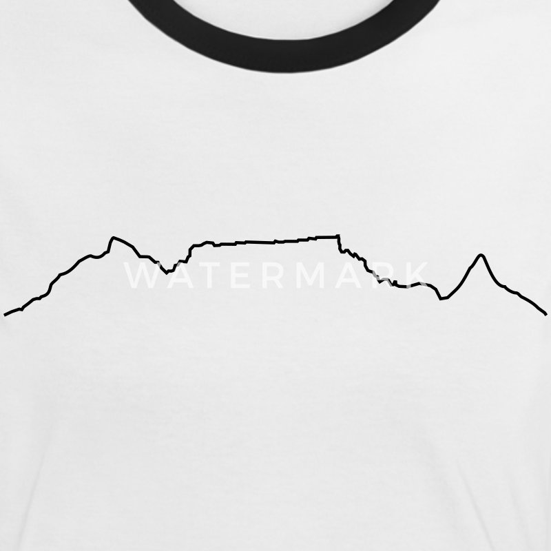 Table Mountain Shirt black and white - Women's Ringer T-Shirt