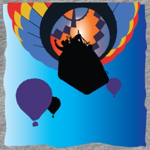 Hot Air Ballooning: Bright Color Balloon Flight - Men's Premium T-Shirt