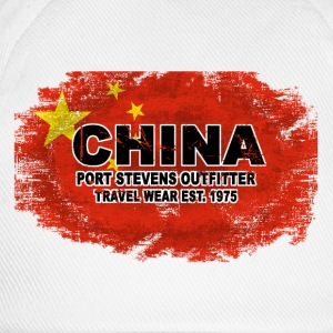 China Flag - Vintage Look T-Shirts - Baseballkappe