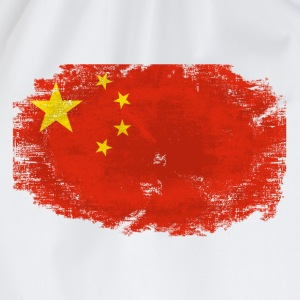 China Flag - Vintage Look T-Shirts - Turnbeutel