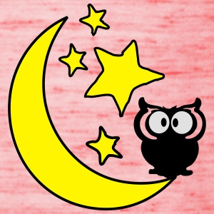 moon and stars and owl  Women's T-shirt with rol - Women's Tank Top by Bella