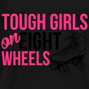 Tough girls on eight wheels Topper - Premium T-skjorte for menn