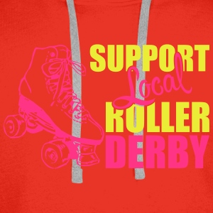 Support local roller derby Tops - Männer Premium Hoodie