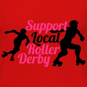 Support local roller derby Tops - Frauen Premium Langarmshirt