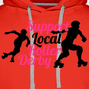 Support local roller derby Tee shirts - Sweat-shirt à capuche Premium pour hommes