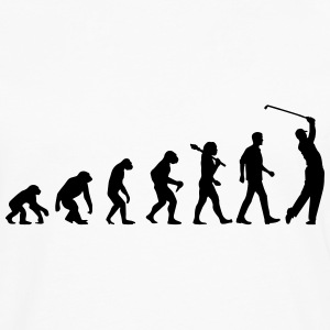 Evolution Of Golf T-Shirts - Männer Premium Langarmshirt