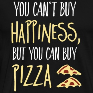 Cant buy happiness, but pizza kan inte köpa lycka, men pizza Toppar - Premium-T-shirt herr