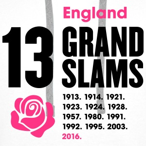 England Rugby Union 13 Grand Slams - Men's Premium Hoodie