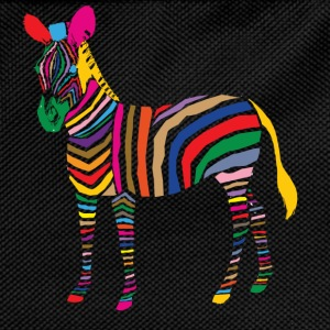 A Touch of Madness - Zebra - Color your Life ! T-shirts - Ryggsäck för barn