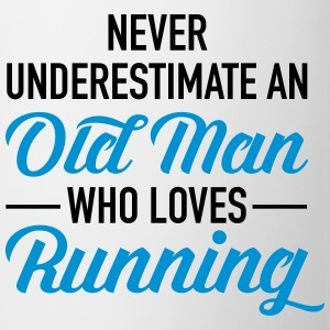 Never Underestimate An Old Man Who Loves Running Tops - Mug