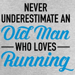 Never Underestimate An Old Man Who Loves Running T-Shirts - Men's Sweatshirt by Stanley & Stella