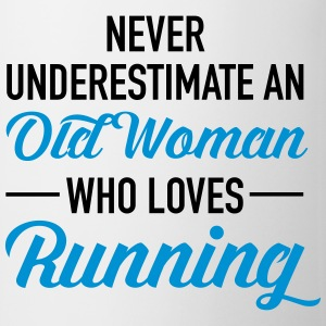 Never Underestimate An Old Woman Who Loves Running Tops - Mug