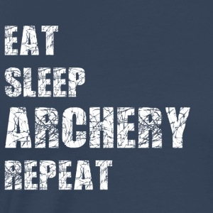 Eat Sleep Archery Trash2 Sportbekleidung - Männer Premium T-Shirt