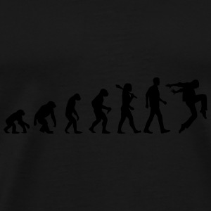 Evolution of Dancing Caps & Mützen - Männer Premium T-Shirt
