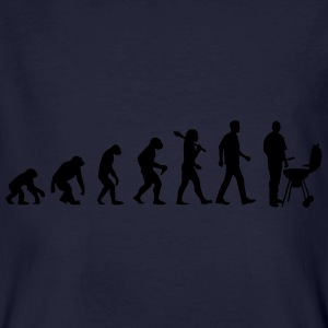 Evolution of BBQ Pullover & Hoodies - Männer Bio-T-Shirt