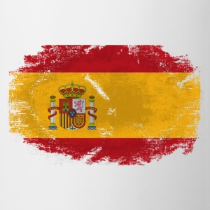 Spain Flag - Vintage Look  T-Shirts - Tasse
