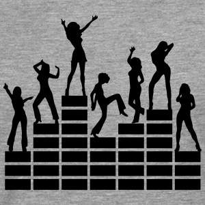 Dancing girls - equalizer - EQ -  music - sound T-shirts - Långärmad premium-T-shirt herr