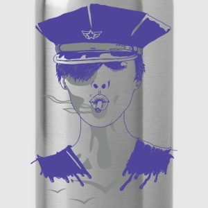 Brave Policewoman T-Shirts - Trinkflasche