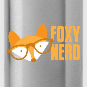 foxy nerd Caps & Hats - Water Bottle