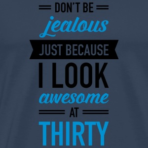 Awesome At Thirty Sportkläder - Premium-T-shirt herr